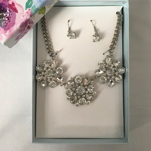 Chunky Crystal 2 Piece Set Necklace and Earrings